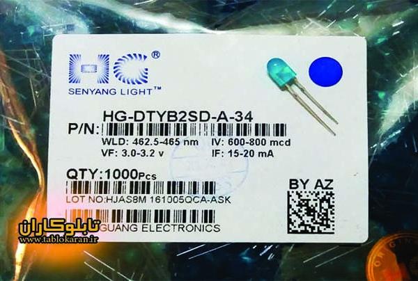ال ای دی آبی اوال | تابلوکاران